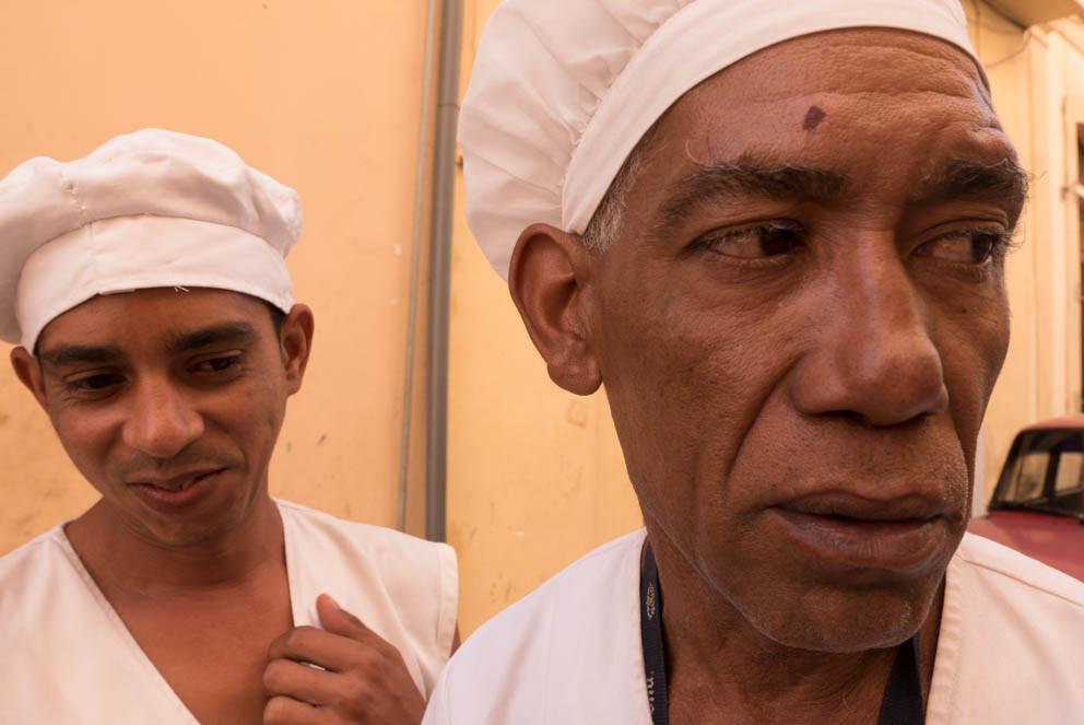 Chefs on Havana street, Cuba
