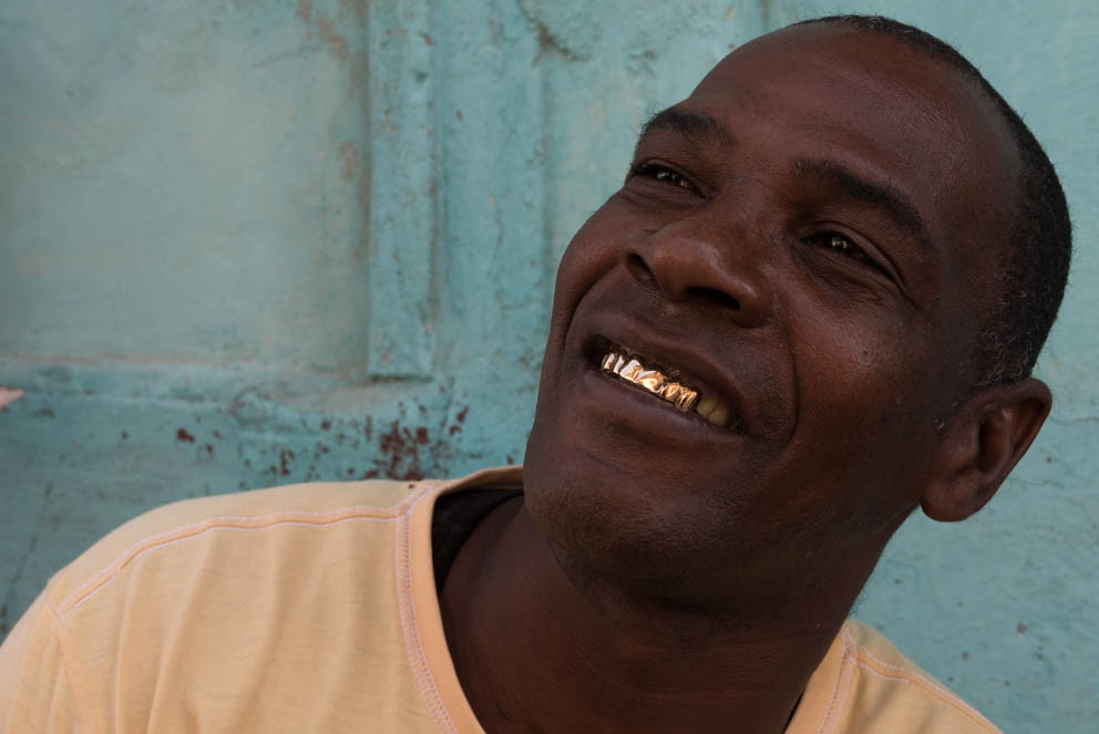 Man with gold teeth, Havana