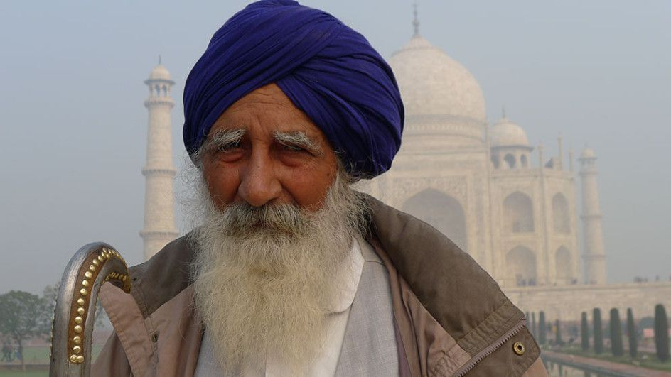 Man At Taj Mahal